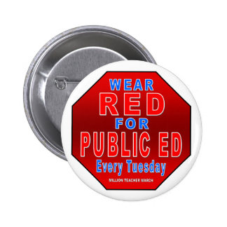 Wear Red for Public Ed 6 Cm Round Badge