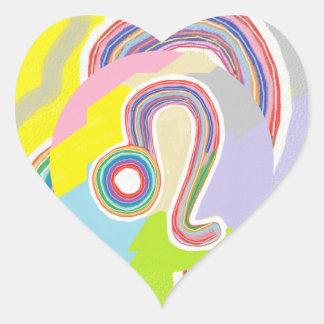 Wear your birth symbol : LEO Zodiac Astrology Heart Sticker