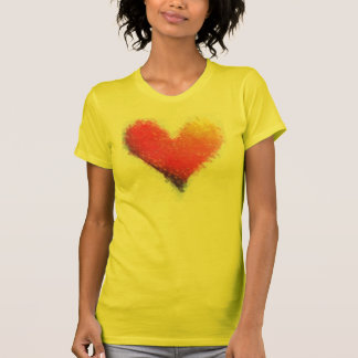 Wear your heart on your chest tee shirts