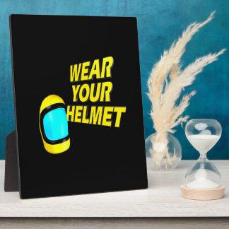 Wear Your Helmet 2 Display Plaques