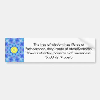 Wearable Buddhist Wisdom - The tree of wisdom Bumper Stickers