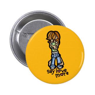 wearing my heart on my sleeve. 6 cm round badge