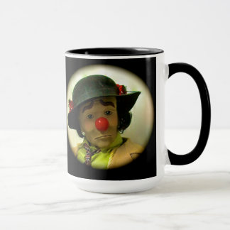 Weary Willie Sad Face Clown - Black 15 Oz Mug