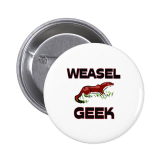Weasel Geek 6 Cm Round Badge