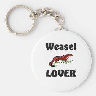 Weasel Lover Basic Round Button Key Ring