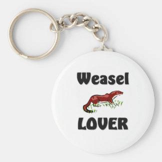 Weasel Lover Key Ring