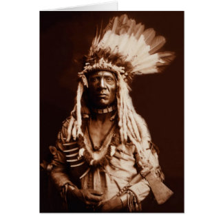 Weasel Tail - A Piegan Blackfoot - 1900 Greeting Card