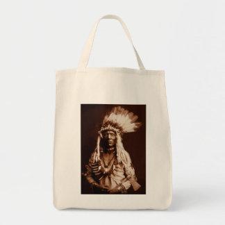 Weasel Tail - A Piegan Blackfoot - 1900 Grocery Tote Bag