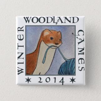 weasel winter woodland games 2014 15 cm square badge