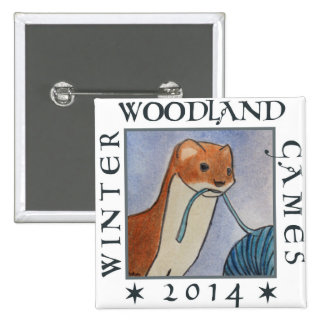 weasel winter woodland games 2014 15 cm square badge