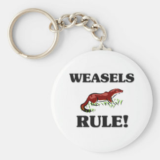 WEASELS Rule! Basic Round Button Key Ring