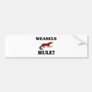 WEASELS Rule Bumper Stickers