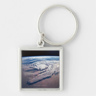 Weather Above Earth Silver-Colored Square Key Ring