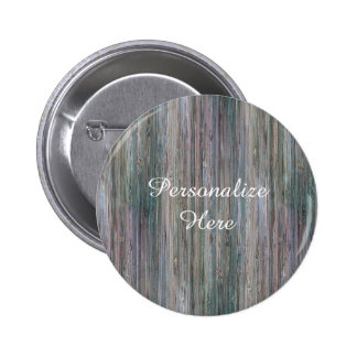 Weather-beaten Bamboo Look 6 Cm Round Badge