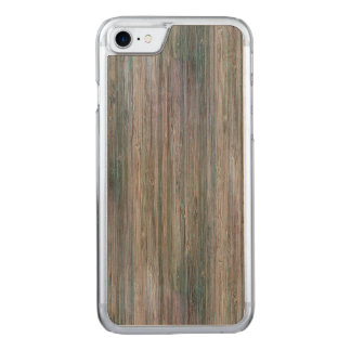 Weather-beaten Bamboo Wood Grain Look Carved iPhone 7 Case