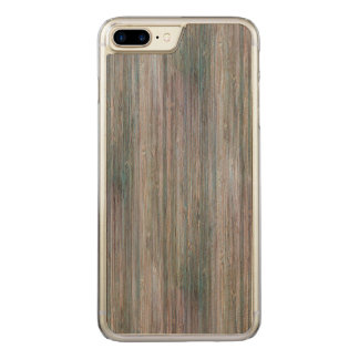 Weather-beaten Bamboo Wood Grain Look Carved iPhone 7 Plus Case