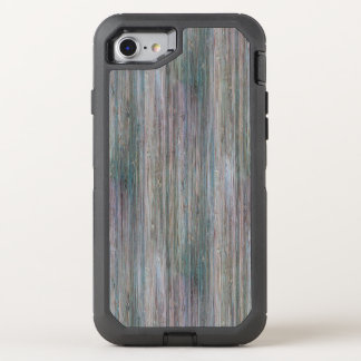 Weather-beaten Bamboo Wood Grain Look OtterBox Defender iPhone 8/7 Case