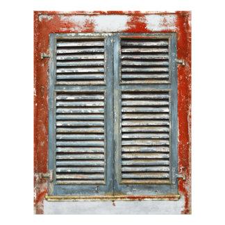 Weather-beaten window 21.5 cm x 28 cm flyer