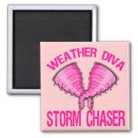 Weather Diva Storm Chaser Magnet