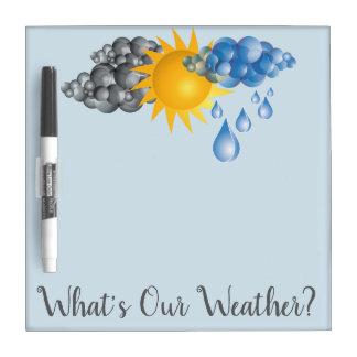 Weather Dry Erase Dry Erase Board