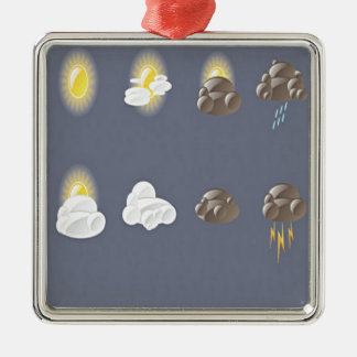 Weather icons design christmas ornament