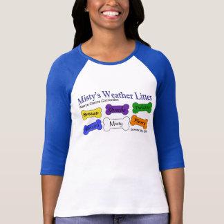 Weather Litter - Ladies Navy Baseball T-Shirt