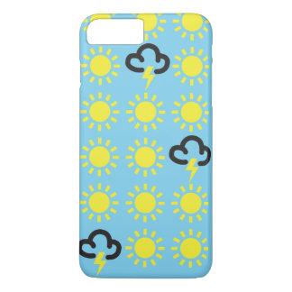 Weather pattern: Retro weather forecast symbols iPhone 7 Plus Case