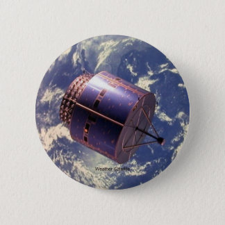 Weather Satellite 6 Cm Round Badge