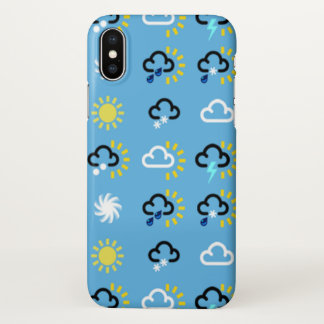 Weather symbols iPhone x case