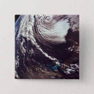 Weather Systems Above Earth 15 Cm Square Badge