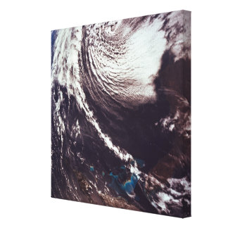 Weather Systems Above Earth 2 Canvas Print