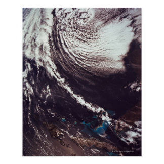 Weather Systems Above Earth Poster