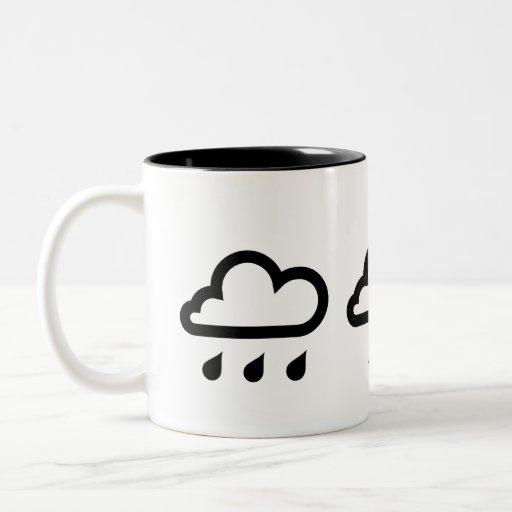 'Weather Systems' Pictogram Mug
