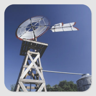 Weather vane and water tank, San Antonio, Texas, Square Sticker