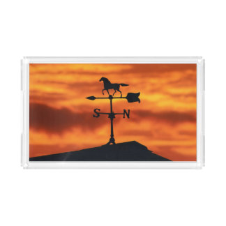 Weather Vane at Sunset