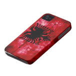 Weathered Albania Flag iPhone 4 Case-Mate Cases