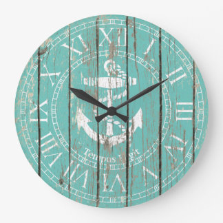 Weathered Anchor Personalize Wallclock