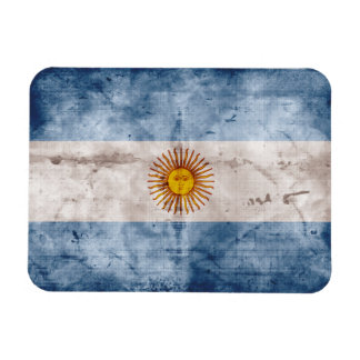 Weathered Argentina Flag Flexible Magnet