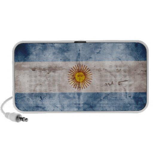 Weathered Argentina Flag Mini Speakers