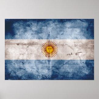Weathered Argentina Flag Print