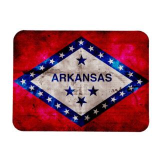 Weathered Arkansas Flag Rectangular Photo Magnet