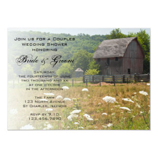 Weathered Barn Country Couples Wedding Shower 13 Cm X 18 Cm Invitation Card