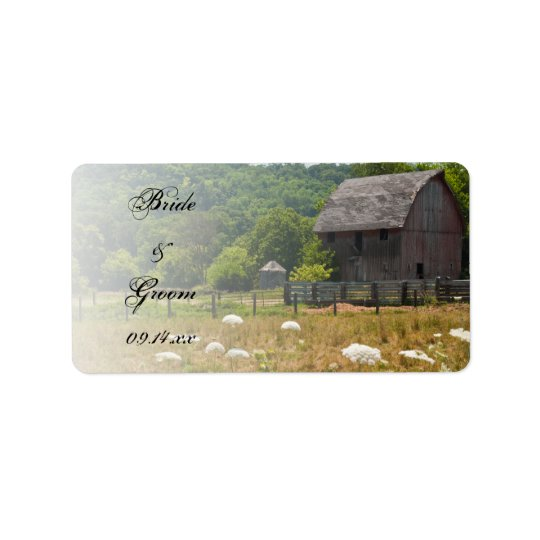 Weathered Barn Country Wedding Favour Tags Address Label