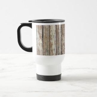 Weathered Barn Wood Travel Mug