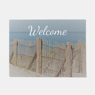 Weathered Beach Fence Doormat
