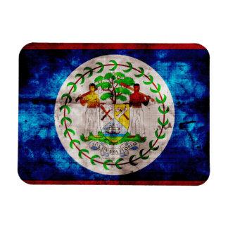 Weathered Belize Flag Flexible Magnet