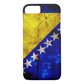 Weathered Bosnia Flag iPhone 7 Case