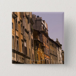 Weathered buildings, Rome, Italy 15 Cm Square Badge