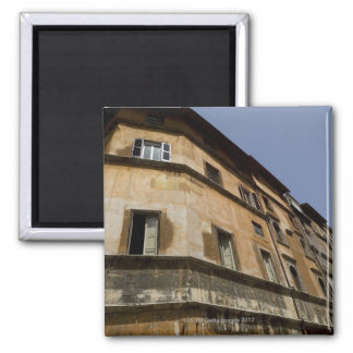 Weathered buildings, Rome, Italy 2 Square Magnet
