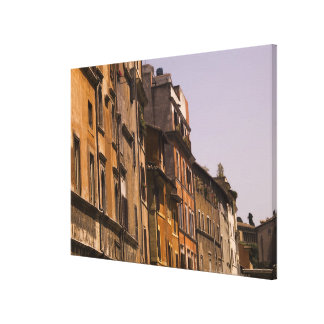 Weathered buildings, Rome, Italy Canvas Print